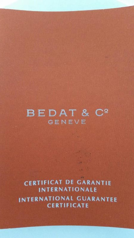 BEDAT & CO MODEL NO. 3 LADIES WATCH WITH A DIAMOND BEZEL