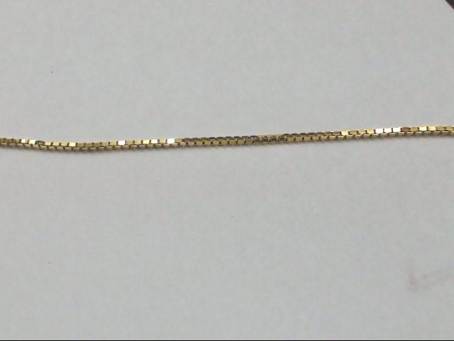 "30"" Gold Box Chain 14K Yellow Gold 4.8g"