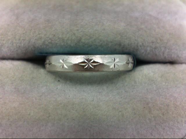 Lady's Platinum Ring 950 Platinum 2.8g Size:6