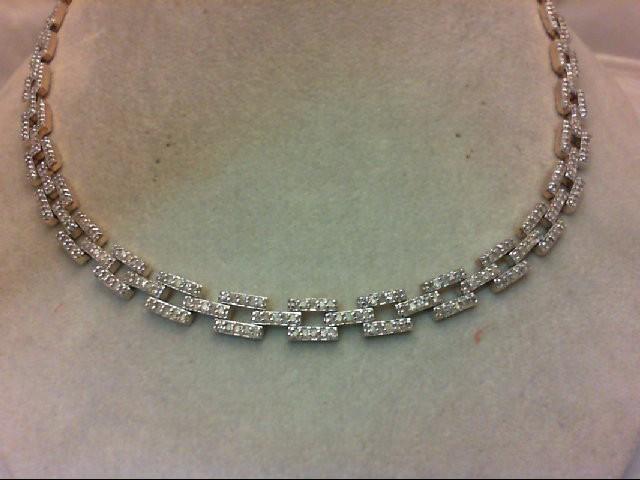 "17"" Diamond Necklace 536 Diamonds 10.72 Carat T.W. 14K Yellow Gold 38g"