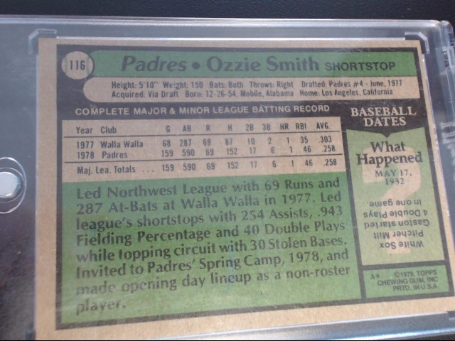 1979 TOPPS OZZIE SMITH 116