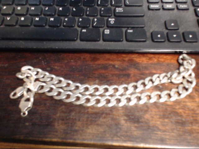 "22"" Silver Link Chain 925 Silver 147.3g"