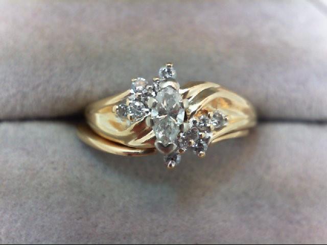 Lady's Diamond Wedding Set 13 Diamonds .46 Carat T.W. 14K Yellow Gold 4.4g