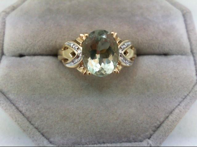 Peridot Lady's Stone Ring 14K Yellow Gold 3.9g