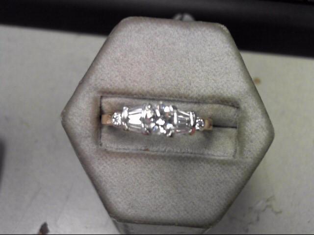 Lady's Diamond Solitaire Ring 9 Diamonds .48 Carat T.W. 14K Yellow Gold 4.09g