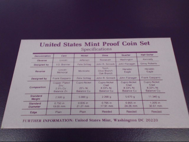 UNITED STATES Proof Set 1990 MINT PROOF SET