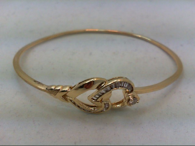 Gold-Diamond Bracelet 20 Diamonds .43 Carat T.W. 14K Yellow Gold 8.4g
