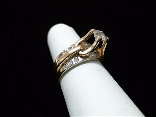 Lady's Diamond Engagement Ring 21 Diamonds .96 Carat T.W. 14K Yellow Gold 6.6g