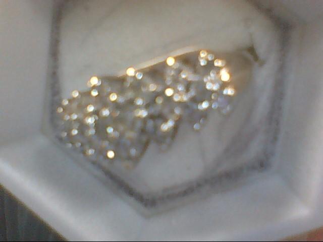 Lady's Diamond Cluster Ring 20 Diamonds 1.00 Carat T.W. 14K Yellow Gold 3.8g