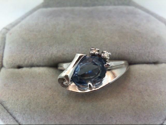 Lady's Diamond Fashion Ring 2 Diamonds .02 Carat T.W. 14K White Gold 3.4g