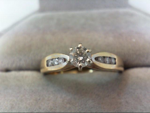 Lady's Diamond Engagement Ring 7 Diamonds .32 Carat T.W. 14K Yellow Gold 3.7g