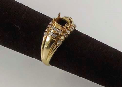 Lady's Diamond Fashion Ring 26 Diamonds 0.52 Carat T.W. 10K Yellow Gold 4.7g Siz