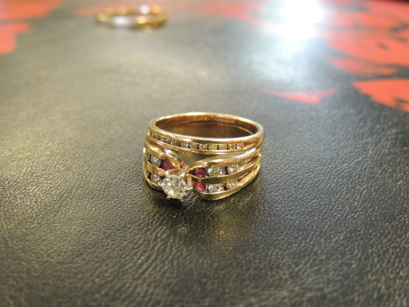 Lady's Diamond Cluster Ring 21 Diamonds .66 Carat T.W. 14K Yellow Gold 5.48g