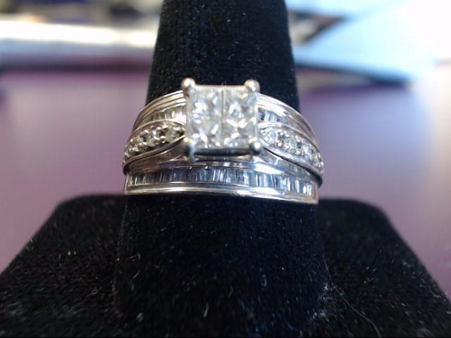 Lady's Diamond Wedding Set 52 Diamonds .88 Carat T.W. 14K White Gold 6.61g