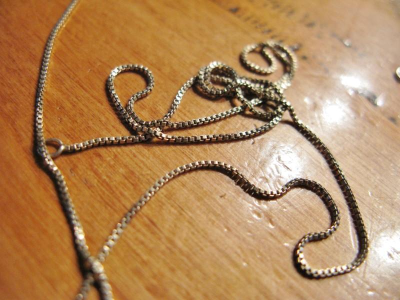 """18"""" Silver Box Chain 925 Silver 1.3dwt"""