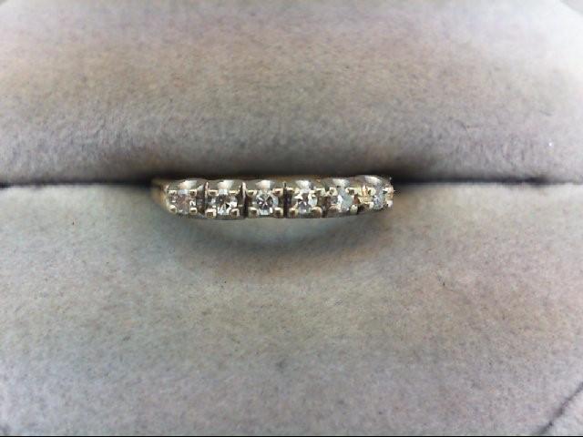 Lady's Diamond Wedding Band 6 Diamonds .12 Carat T.W. 14K Yellow Gold 1.3g