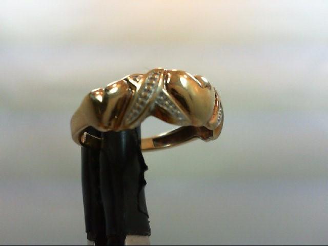 Lady's Gold Wedding Band 10K Yellow Gold 1.8g Size:5.5