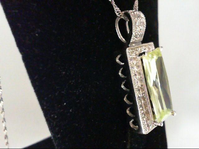 Peridot Silver-Stone Pendant 925 Silver 8g