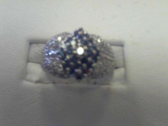 Lady's Diamond Fashion Ring 65 Diamonds 1.30 Carat T.W. 14K White Gold 3.8dwt