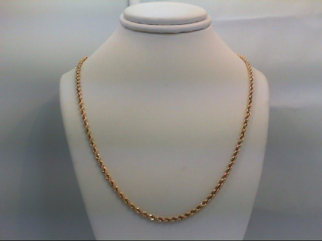 "18"" Gold Rope Chain 14K Yellow Gold 10.5g"