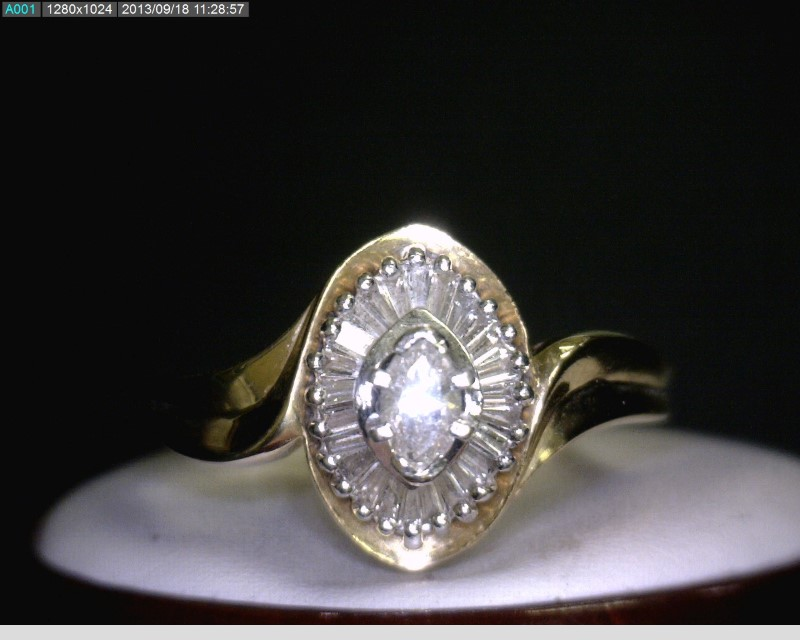 Lady's Diamond Cluster Ring 31 Diamonds .45 Carat T.W. 14K Yellow Gold 3.4dwt