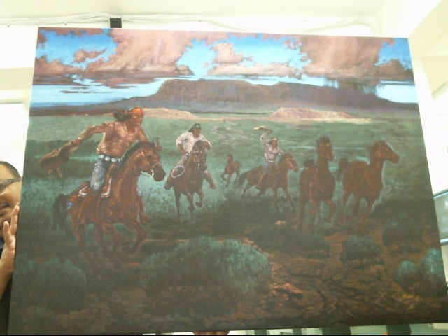 NATIVE AMERICAN PAINTINGS American Indian Blanket/Rug