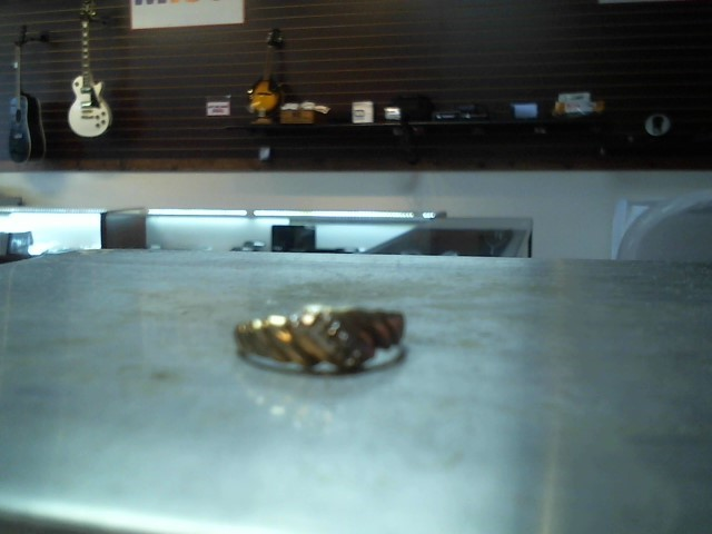 Lady's Diamond Cluster Ring 2 Diamonds .02 Carat T.W. 10K Yellow Gold 1.4g