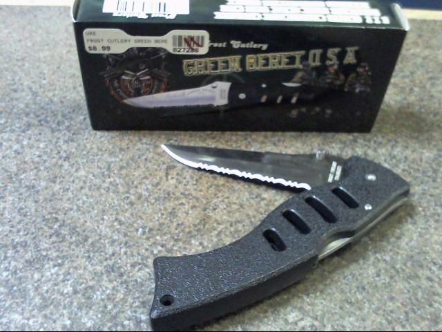 FROST CUTLERY Pocket Knife GREEN BERET FOLDER