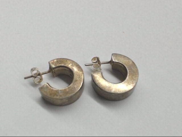 Silver Hoop Earrings 925 Silver 4.5g