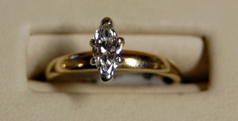 Lady's Diamond Solitaire Ring .58 CT. 14K Yellow Gold 2.4g