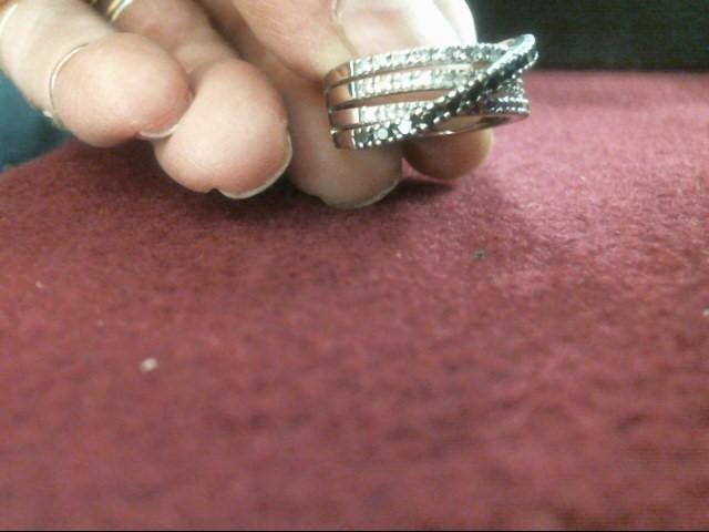 Black Stone Lady's Stone & Diamond Ring 35 Diamonds .35 Carat T.W.