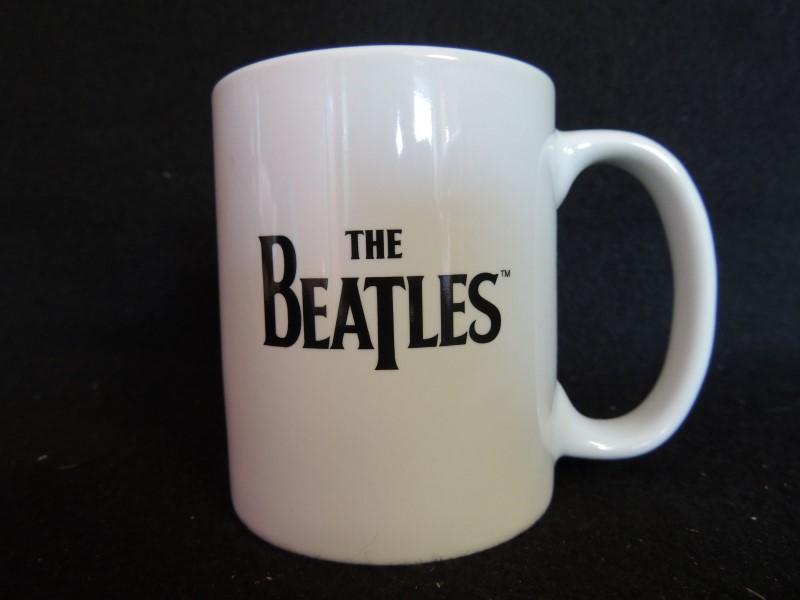 The Beatles Help Coffee Mug White Glazed Ceramic 10 OZ