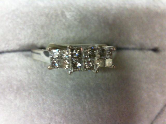 Lady's Gold-Diamond Anniversary Ring 12 Diamonds 0.88 Carat T.W. 14K White Gold