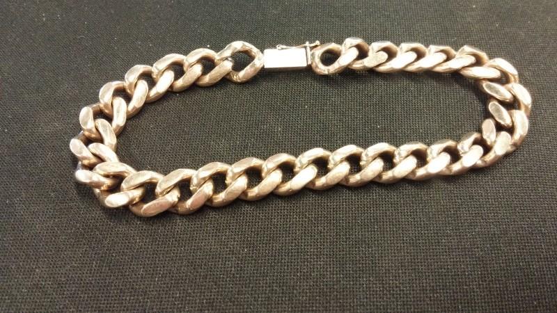 GENTS 10KT Gold Figaro Bracelet FIGARO LINK 10K Yellow Gold 21.6dwt