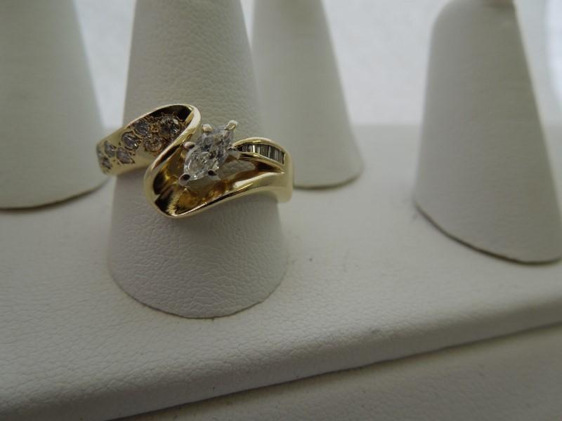 Lady's Diamond Fashion Ring 16 Diamonds .47 Carat T.W. 14K White Gold 4.9g