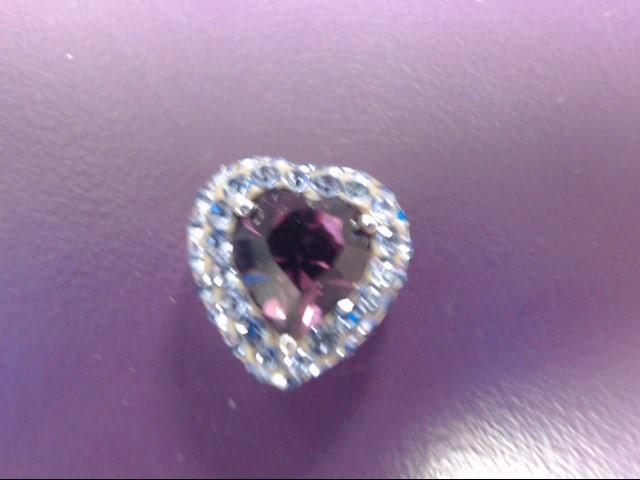 Purple Stone Silver-Stone Pendant 925 Silver 3.01g