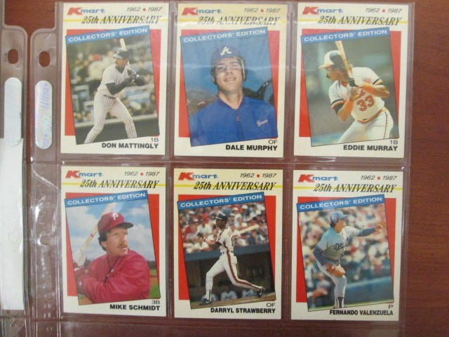 1987 TOPPS KMART STARS OF THE DFECADE 25TH ANNIVERSARY 33 CARD SET (15789)