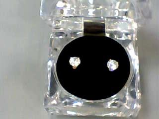 Gold-Diamond Earrings 1.50 CT. 14K Yellow Gold 1dwt