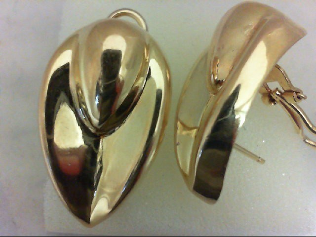 Gold Earrings 14K Yellow Gold 9.2g