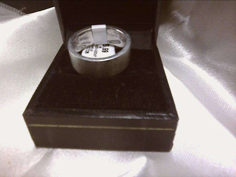Gent's Ring Silver Stainless 4.8dwt SIZE 8.5