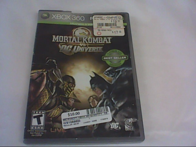 MORTAL COMBAT VS DC UNIVERSE-XBOX 360 GAME