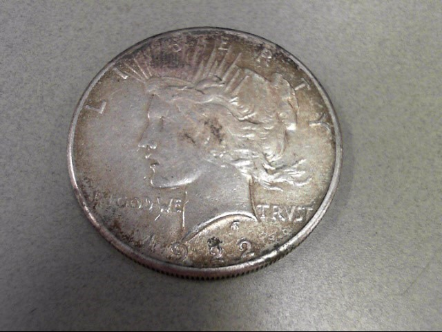 UNITED STATES Silver Coin PEACE 1922 S