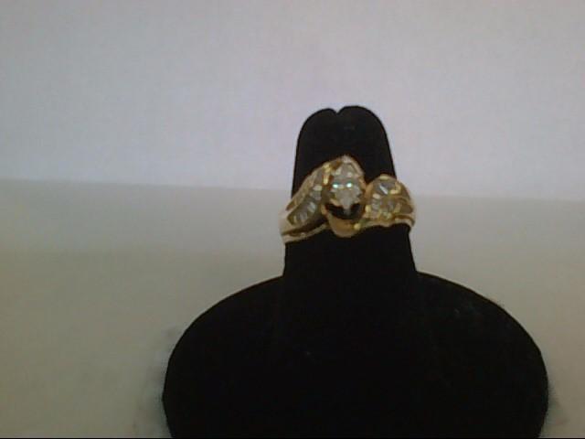 Lady's Diamond Wedding Set 21 Diamonds .71 Carat T.W. 14K Yellow Gold 4.8g