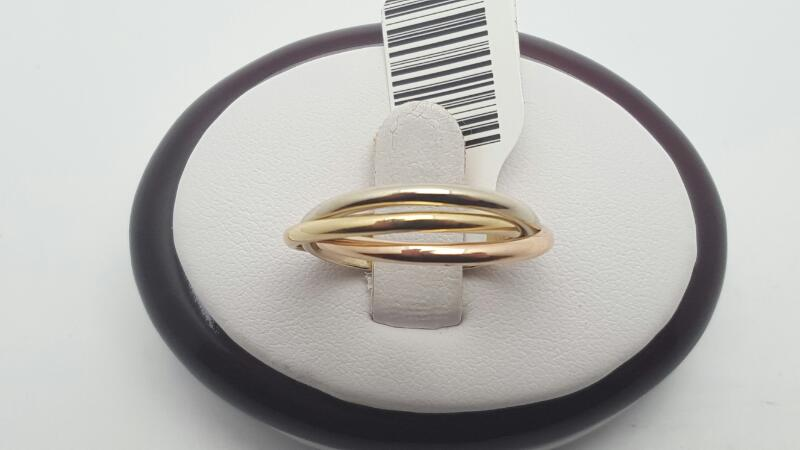 Lady's Gold Ring 18K Tri-color Gold 4.7g Size:7
