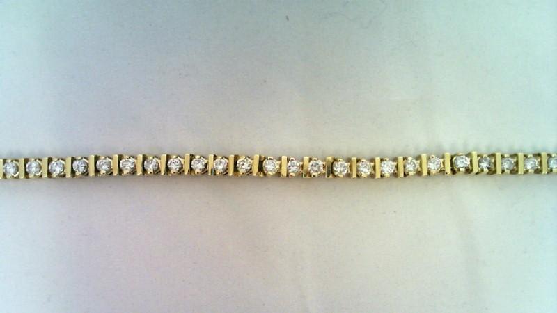 DIAMOND TENNIS BRACELET 14K Y/G 5.10CTW