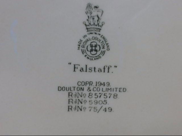 1949  VINTAGE ROYAL DOULTON FALSTAFF CERAMIC CHARACTER MUG