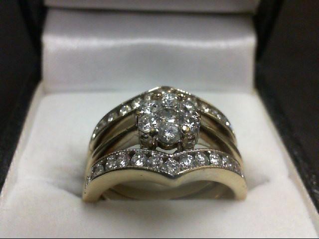 Lady's Diamond Wedding Set 33 Diamonds 1.00 Carat T.W. 14K White Gold 9.21g