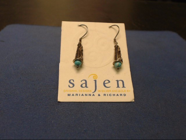 Turquoise Silver-Stone Earrings .925 Silver