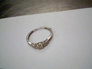 Lady's Diamond Wedding Band 13 Diamonds .39 Carat T.W. 14K White Gold 1.4g