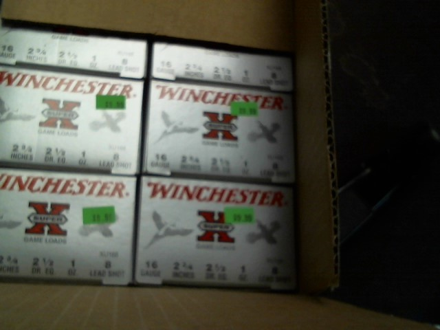 WINCHESTER Ammunition SUPER X 16GA 2 3/4 #8 SHOT